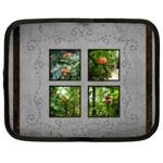 Stitched border 15 inch netbook case - Netbook Case (XXL)