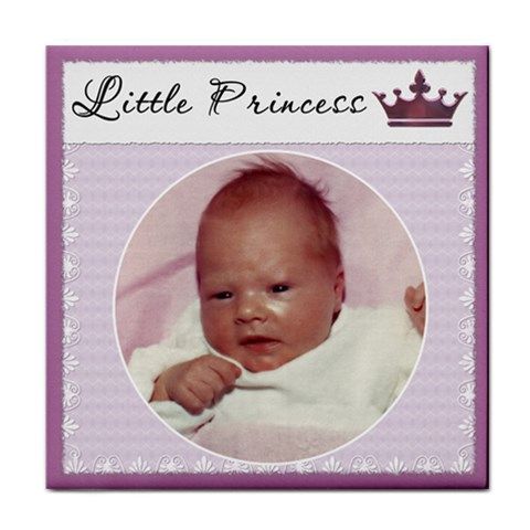 little Princess  Girl Coaster By Lil    Tile Coaster   Ujre3cz14e0h   Www Artscow Com Front