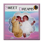 Sweet Dreams  Girl Coaster - Tile Coaster