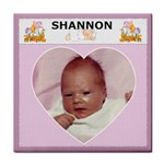 Custom Name  Girl Coaster - Tile Coaster