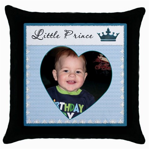 Little Prince Pillow By Lil    Throw Pillow Case (black)   Rnlgdjsz1de2   Www Artscow Com Front