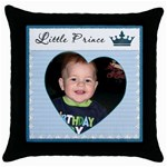 Little Prince Pillow - Throw Pillow Case (Black)