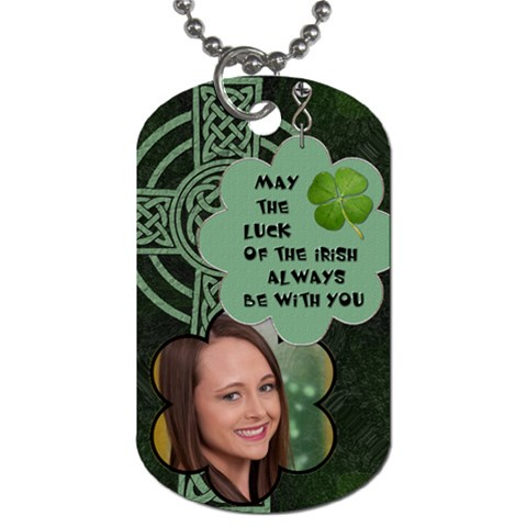 Lucky Irish Dog Tag By Lil    Dog Tag (one Side)   Ksyuvttx17rr   Www Artscow Com Front
