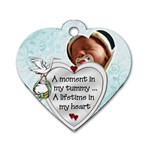 Mom Dog Tag - Dog Tag Heart (One Side)