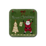 Xmas Coasters - Rubber Coaster (Square)