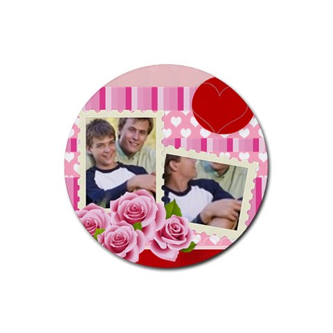 Rose Family By Joely   Rubber Coaster (round)   Scigpav4rnfc   Www Artscow Com Front