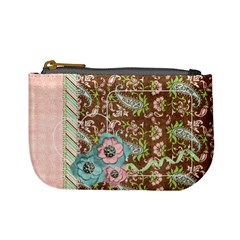 Mini Coin Purse Pink Paisley By Mikki   Mini Coin Purse   H0p5suvxxo6e   Www Artscow Com Front