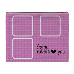 Some Rabbit Love You   Cosmetic Bag (xl)   By Carmensita   Cosmetic Bag (xl)   N8z91xlwychv   Www Artscow Com Back