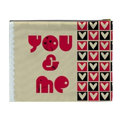 You & Me   Cosmetic Bag (xl)   By Carmensita   Cosmetic Bag (xl)   044yi4jucpvl   Www Artscow Com Back