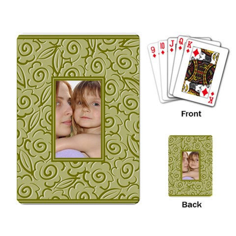Pattern Frame By Wood Johnson   Playing Cards Single Design   0kmhbjpm4dz5   Www Artscow Com Back