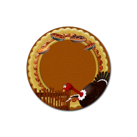 Thanksgivin Coaster1 By Snackpackgu   Rubber Coaster (round)   Whgpen2j9upj   Www Artscow Com Front