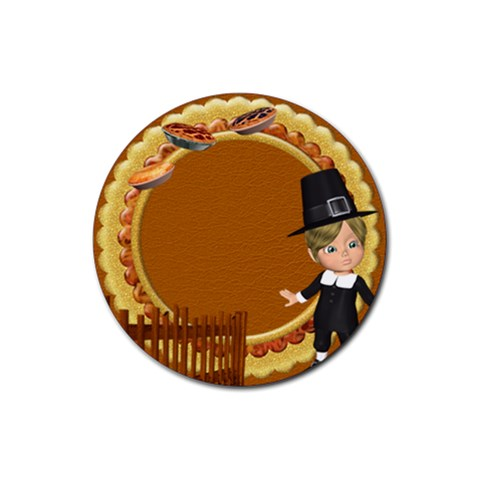 Thanksgivin Coaster2 By Snackpackgu   Rubber Coaster (round)   Ktx9fzwnbcv4   Www Artscow Com Front