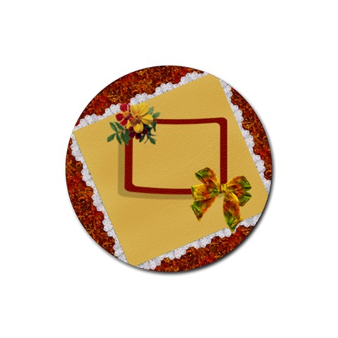 Autumn Coaster2 By Snackpackgu   Rubber Coaster (round)   V4tumoe155e6   Www Artscow Com Front