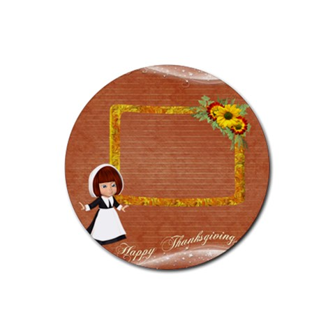 Thanksgiving 6 By Snackpackgu   Rubber Coaster (round)   3k0om1zq4eeq   Www Artscow Com Front