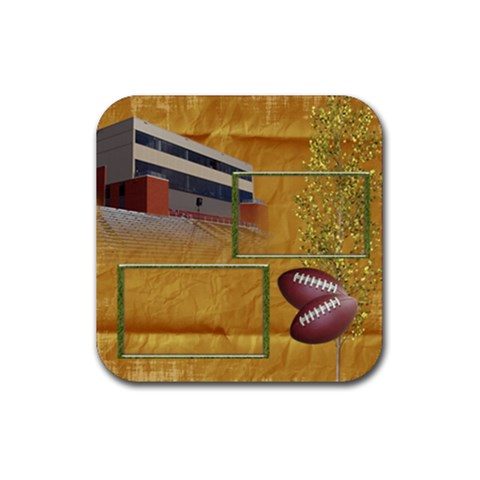 Football Coaster 3 By Snackpackgu   Rubber Square Coaster (4 Pack)   Cjdnx1tkdzvn   Www Artscow Com Front