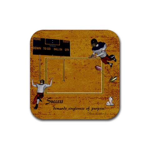 Football Coaster 4 By Snackpackgu   Rubber Square Coaster (4 Pack)   D5sjraxpr1i4   Www Artscow Com Front