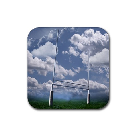 Football Coaster 6 By Snackpackgu   Rubber Square Coaster (4 Pack)   Ndrdvr1gtg98   Www Artscow Com Front