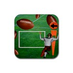 Football Coaster7 - Rubber Square Coaster (4 pack)