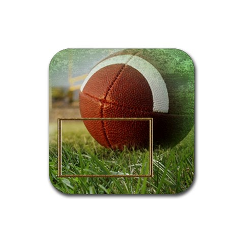 Football Coaster9 By Snackpackgu   Rubber Square Coaster (4 Pack)   Vrx5lmwt19ox   Www Artscow Com Front