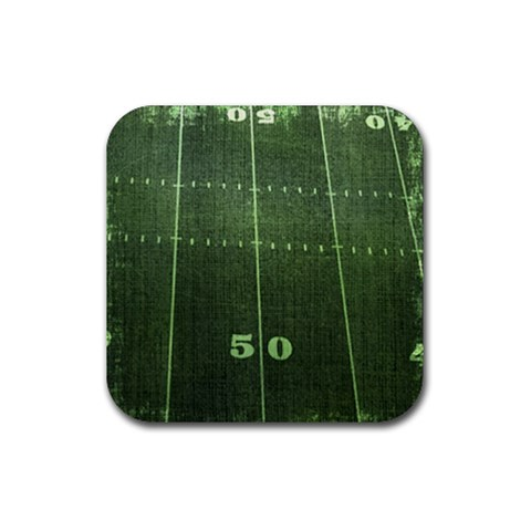 Football Coaster11 By Snackpackgu   Rubber Square Coaster (4 Pack)   11vjclo9uply   Www Artscow Com Front