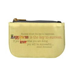 Mini Coin Purse Happiness Word Art By Mikki   Mini Coin Purse   N5t0f84lpo8a   Www Artscow Com Front
