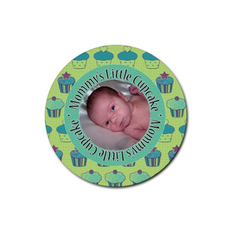 Cupcake Round Coaster By Klh   Rubber Coaster (round)   N8my73hto5ha   Www Artscow Com Front