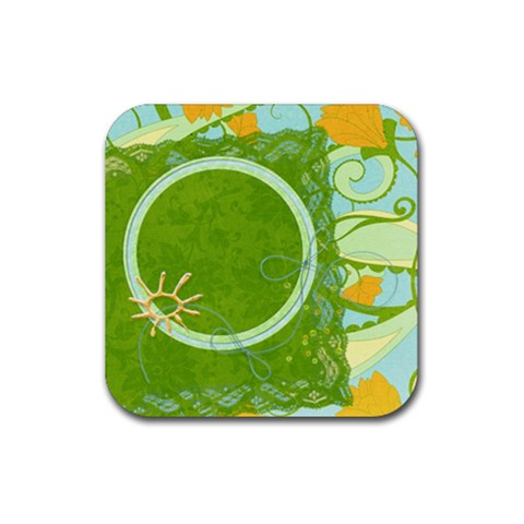 Coaster Floral By Mikki   Rubber Coaster (square)   Guv0pt7h6x0x   Www Artscow Com Front