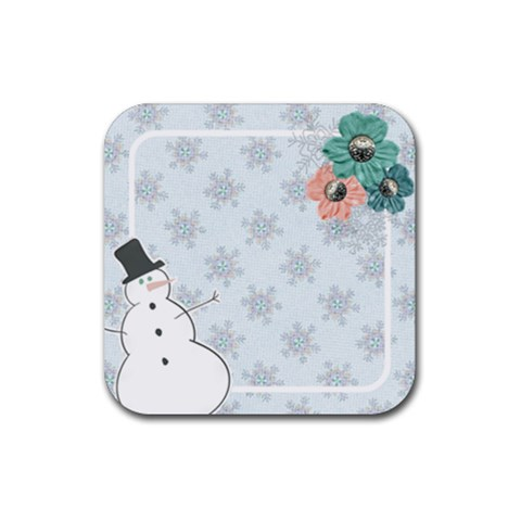 Coaster   Snowman By Mikki   Rubber Coaster (square)   2gd1vjxhox94   Www Artscow Com Front