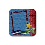 Coaster- Teacher-Student-School - Rubber Coaster (Square)