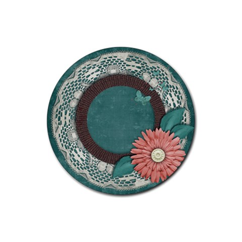 Coaster  Floral By Mikki   Rubber Coaster (round)   Vd8nu5gpzjnz   Www Artscow Com Front
