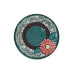 Coaster- Floral - Rubber Coaster (Round)