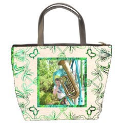 Art Nouveau Eden Bucket Bag By Catvinnat   Bucket Bag   Pugzft0wmbb2   Www Artscow Com Back