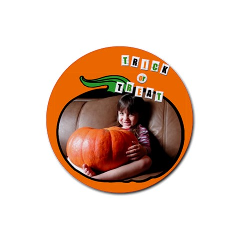 Pumpkin   Rubber Square Coaster By Carmensita   Rubber Coaster (round)   Nvt8luretzwc   Www Artscow Com Front