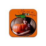 Pumpkin - Rubber round coaster - Rubber Coaster (Square)