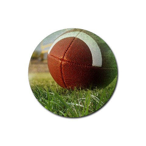 Football Round 1 By Snackpackgu   Rubber Coaster (round)   Dn0ouptc95x7   Www Artscow Com Front