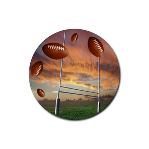 Football Round 2 By Snackpackgu   Rubber Coaster (round)   Xw6k9bsiokmi   Www Artscow Com Front