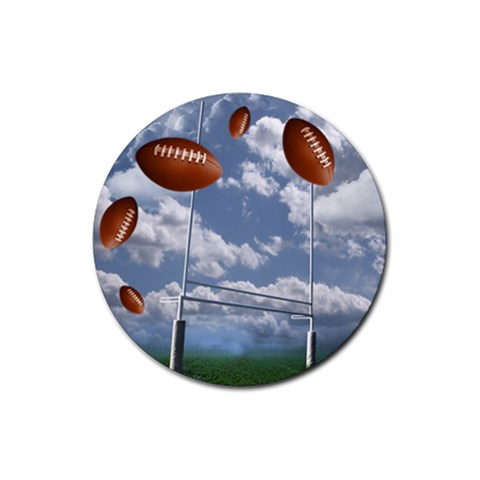 Football Round 3 By Snackpackgu   Rubber Coaster (round)   1fmhnrto1q98   Www Artscow Com Front