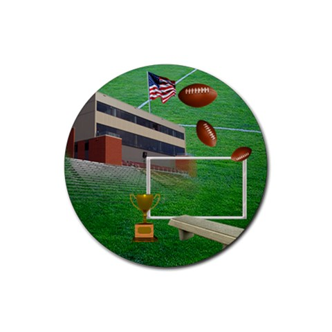 Football Round 5 By Snackpackgu   Rubber Coaster (round)   3ooa9906m7iv   Www Artscow Com Front