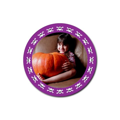 Halloween Violet   Rubber Square Coaster By Carmensita   Rubber Coaster (round)   T5v95blnbwph   Www Artscow Com Front