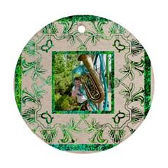 Art Nouveau Eden Round Ornament By Catvinnat   Round Ornament (two Sides)   Ekst8h2ykw5s   Www Artscow Com Front