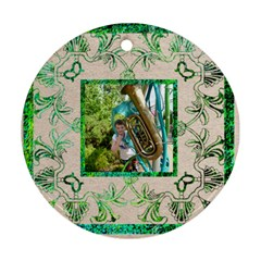 Art Nouveau Eden Round Ornament By Catvinnat   Round Ornament (two Sides)   Ekst8h2ykw5s   Www Artscow Com Back