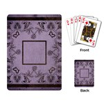 art nouveau purple playing cards - Playing Cards Single Design