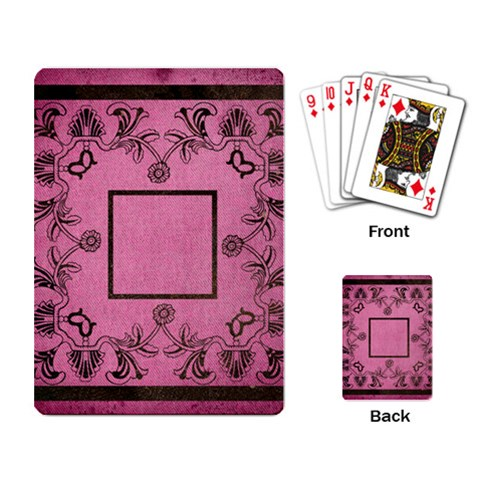 Art Nouveau Pink Playing Cards By Catvinnat   Playing Cards Single Design   7ctaqfbqm7in   Www Artscow Com Back