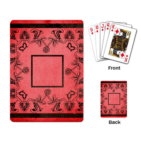 Art Nouveau Red Playing Cards By Catvinnat   Playing Cards Single Design   An395vbif831   Www Artscow Com Back