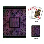 art nouveau deep purple playing cards - Playing Cards Single Design