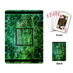 art nouveau green playing cards - Playing Cards Single Design