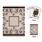 art nouveau beige playing cards - Playing Cards Single Design