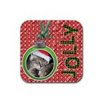 Jolly Christmas Coaster - Rubber Coaster (Square)