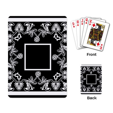 Art Nouveau Black & White Playing Cards By Catvinnat   Playing Cards Single Design   0u8f3lil6af4   Www Artscow Com Back