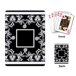 art nouveau black & white playing cards - Playing Cards Single Design